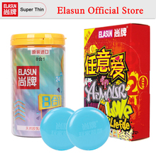Buy ELASUN 40 pcs 9 Types Ultra Thin Condoms Ice Fire Dotted Pleasure Natural Latex Rubber Condoms men