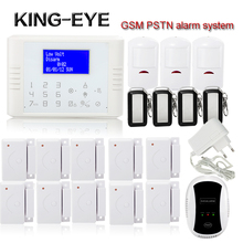 Wireless Wired Alarm Systems Security Home gas leak sensor GSM PSTN Alarm System Russian Spanish Polski with battery