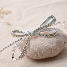 Crystal Bowknot Design Wedding hair Tiaras Bridal crown Red AB Silver color For Women Party Dress Hair accessories