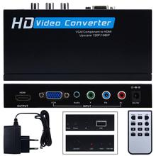 NEW HOT VGA/component to HDMI Upscaler 720p/1080p HD video Converter Adapter HIGH QUALITY DEC19