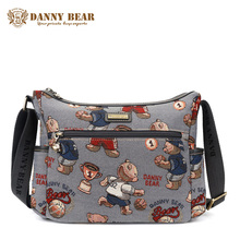 DANNY BEAR Women Fashion Large Messenger Bag Teenager Girls Cheap High School Crossbody Bags Gray Korean Shoulder Bag For Female(China)