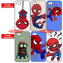 Cartoon Spider Man Grain Cover Case for iPhone 4 4S 5 5S SE 5C 6 6S 7 Plus iPod Touch 5 LG G2 G3 G4 G5 G6 Sony Z2 Z3 Z4 Z5