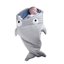 2017 Dropshipping Free Shipping Baby Shark Sleeping Bag Birthday Gifts for Kids and Babies Colorful Sleeping Bag Easter Gifts(China)