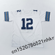 Retro star #12 Roger Staubach Embroidered Name&Number Throwback Football Jersey(China)
