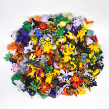 144 pcs in Random HOT Brand New Cute Mon Go Pikachu figures Mini Monster action figure toys lot 2-3cm Christmas Gifts