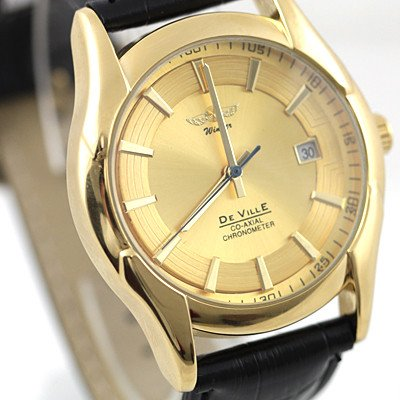 Full Gold Case Wrist Watch Automatic Mechanical Date freeship<br><br>Aliexpress