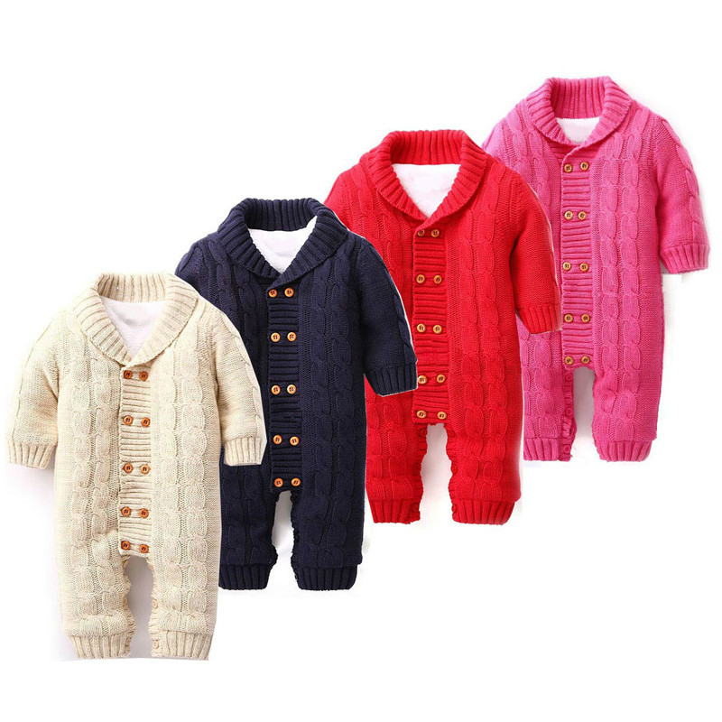 GSCH Baby Boy Clothes Winter Jumpsuit Christmas Romper 2016 Warm Cotton Newborn Baby Girl Clothes Infant Clothing roupa infantil<br>