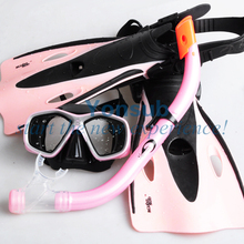 Kids Children Snorkeling Swimming snorkeling  Mask Snorkel Fins Flippers Set girl boy