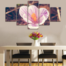 2017 5 Pieces Cheap Abstract Modern Wall Painting Large Pink Flower Home Decorative Art Picture Paint  Canvas Prints