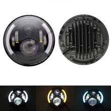 "1 pcs Black Daymaker Style LED Projection Headlight Kit for Harley Jeep Applications Hummer Land Rover 7"" Motorcycle Headlight"