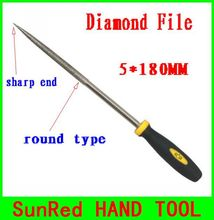 BESTIR taiwan excellent quality 120mesh 5*180mm needle files diamond round type hobbies tool NO.07055 freeship wholesale