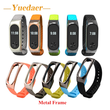 Buy Yuedaer Extended Plus replacement strap original xiaomi mi band 2 wrist strap Metal frame + Carbon fiber Miband 2 Accessory for $2.99 in AliExpress store
