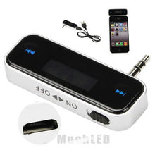 New Wireless Car kit mp3 Music Player to Car Radio FM Transmitter For 3.5mm MP3 iPod Phones Tablets