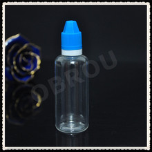 wholesale 2 oz plastic eliquid bottle 60ml clear pet dropper bottle for e juice with blue cap 700pcs per lot by free shipping(China)