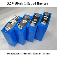 4pcs 3.2v 50Ah lifepo4 cells 3.2v lifepo4 lithium batteries for electric bike battery pack solar energy system(China)