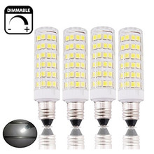 Dimmable 6W 220V E14 LED Candle Light Bulb 50W Halogen Replacement Small Edison Screw SES LED Corn Lamp for Ceiling Fan, Chand(China)