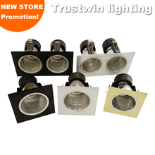 4X recessed sliver black gold E26 E27 bulb light housing cover square 3 4 inch downlight fixture fitting without LED bulb