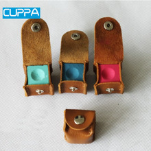 2017 New brown Color 4pcs/lot Pool Snooker Billiard Chalk Holder Pouch  Bag Chalks Pocket Pool Billiards Accessories