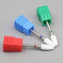 3pcs/lot Ceramic Bullet Bit Nail Art Drill Bit Milling Cutter For Electric Drill Manicure Machine Accessories Nail Files Tools(China)