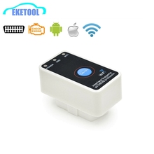 Supports All OBD2 Protocols WIFI ELM327 With Power Switch ON/OFF Works iOS/Android ELM 327 Wi-Fi V1.5 New OBDii Scanner(China)