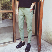 spring summer cultivate one's morality men's casual pants and feet harlan nine minutes of pants bag mail wind large green yard