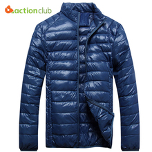 ACTIONCLUB Fall And Winter Jacket Men Goose Down Jacket Top Quality Ultra Light Thermal Travel Pocketable Duck Coats Outerwear