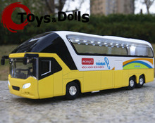 1/32 Diecast Car New York Double Decker Sightseeing Tour Bus Model Collectionable Kids Gift W/light&sound F