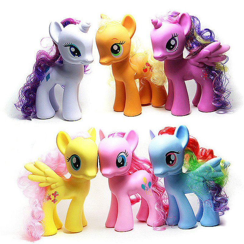 21CM my rainbow horse toys decoration PVC Figures poni Kids Doll colourful model girls gift Movable dolls<br><br>Aliexpress