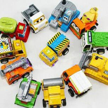 12PCS One Set  New Classic Boy Girl Truck Vehicle Kids Child Toy Mini Small Pull Back Car Toys Best Gift For Kids