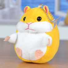 Cute Soft Plush Cartoon Animal 4 Colors Small Hamster Toy Doll key Chain Pendant Stuffed Mouse Toy Creative Children Girl Gift