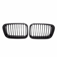 Black 1 Pair Auto Front Racing Grills Accessories For BMW 3 Series E46 1998-2001 Auto Refit Exterior Part Racing Grill