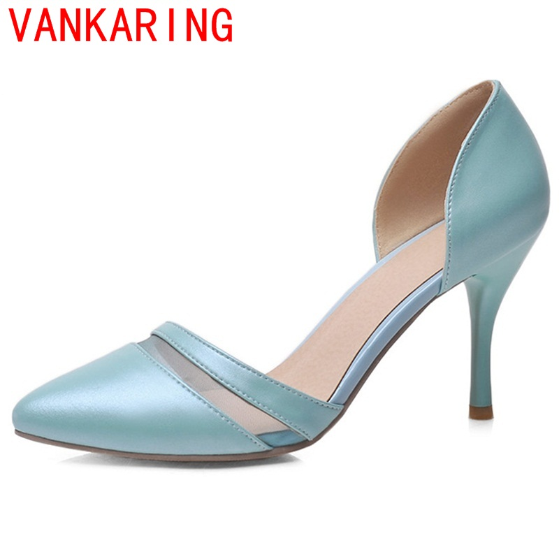 VANKARING shoes 20116 women fashion elegant pumps casual slip-on spring and america superstar zapatos mujer pointed toe shoes <br><br>Aliexpress