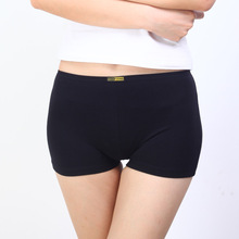 Wholesale Cotton Lycra Women Sexy Boxer Underwear Lady Cotton Lace Flat Pants Head Safety Pants 5NK057(China)