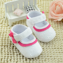 2016 New Baby Little Embroidered Flower Soft Bottom Baby Girl Shoes Free Shipping