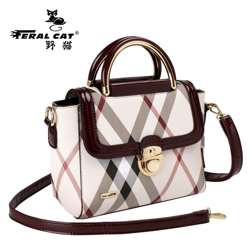 FERAL CAT Pvc Trapeze Luxury Handbags Women Bags Designer 2017 Brand Ladies Shoulder Crossbody Lock Bag Bolsa Feminina hot sale<br>