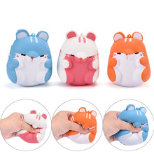 Kawaii Cartoon Animal Squishy Mini Hamster Phone Pendant Sweet Scented Bread Cake Squeeze Slow Rising Toy Wholesales Phone Strap