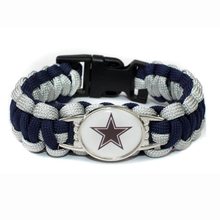 Dallas Football Team Cowboys Paracord Survival Friendship Outdoor Camping Sports Bracelet Navy Blue Silver Cord(China)