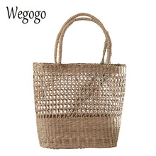 Women Straw Bag Handbags Handmade Braided Ladies Holiday Beach Bag Indian Thai Travel Woven Bohemian Shopping Bag(China)