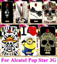 Plastic Hard Case for Alcatel One Touch Pop Star 5022D 3G OT5022 5022X Back Cover Protector Bag Cool Skull Head Phone Skull Life