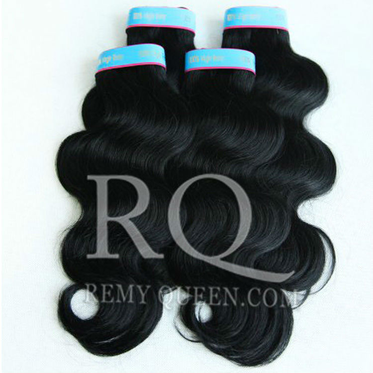REMY Queen Hair Products 3pcs/lot  Hair Weaves Best Quality 8-28 Brazilian Human Hair Body Wave 1# Jet Black DHL Free<br><br>Aliexpress