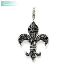 Pendants Fleur-de-lis Lily For Men Women Fashion Punk Heart 925 Sterling Silver Gift Thomas Key Chains Jewelry Fit Ts Necklace(China)