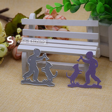Dog&Boy Metal Cutting Dies Stencils for DIY Scrapbooking/photo album Decorative Embossing DIY Paper Cards Craft Gift