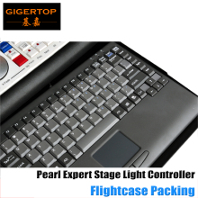 China Make Led Stage Light Controller Pearl Expert with Keyboard Flight case Pack keyboard 13inch LED Display Titan 6.1 System(China)