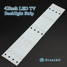 "10pcs x 42""inch Aluminum Plate LED Strips w/ Optical Lens Fliter TV Panel Backlight Lamps Length 435mm 5pcs LED"
