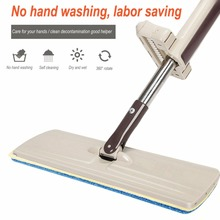 PREUP Wash-Free Flat Mop Wood Floor Hands-Free Telescopic Washable Mop Microfiber Cloth Towel Mop Washing Floor Drop Shipping(China)