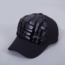 Brand Autumn Winter Keep Warm Snapback Bone Women Baseball Caps girls Hats Cap Simpl Color Black Grey Woolen(China)