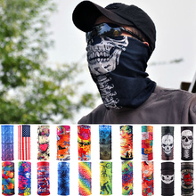 Sale Unisex Women Men Multicolor Magic Motorcycle Cycling Tube Scarf Headband Fashion Head Face Mask Neck Gaiter Snood Headwear(China)