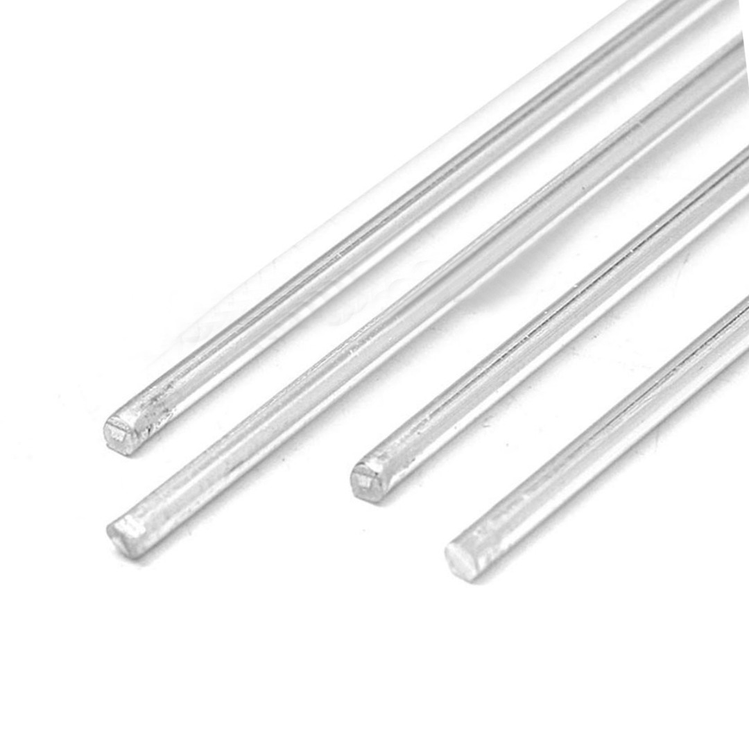4pcs Aluminum Low Temperature Tig Welding Soldering Brazing Rods 4mm Diameter 230mm Length Mayitr