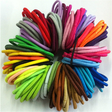 50 Quality Thick Endless Snag Free Hair Elastics Bobbles Bands Ponios Mix Fashion Solid Girls Hair Bands(China)