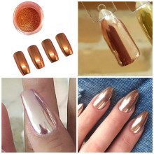 Rose Gold Nail Glitter Chrome Powder Sexy Nail Mirror Powder Nail Art Decoration